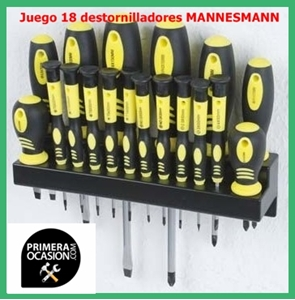 Imagen de Juego 18 destornilladores MANNESMANN