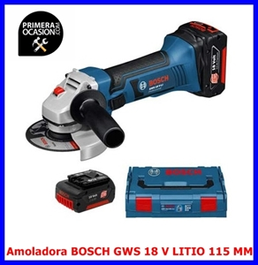 Imagen de Amoladora BOSCH GWS 18V-LI