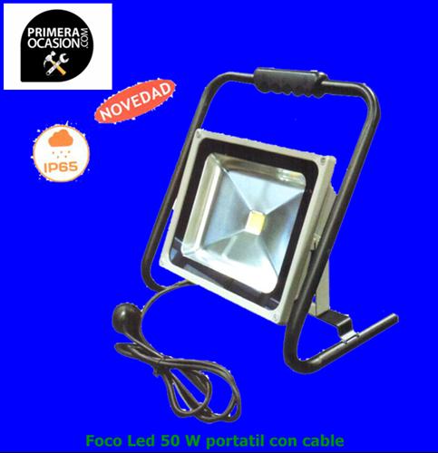 Imagen de Foco Led 50 W portatil con cable