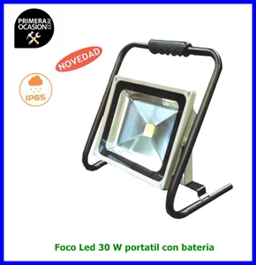 Imagen de Foco Led 30 W portatil con bateria