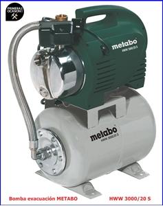 Imagen de Bomba de evacuacion para agua domestica METABO HWW 3000/20 S