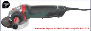 Imagen de Amoladora angular  METABO WEBPA 14 QUICK PROTECT 125 mm