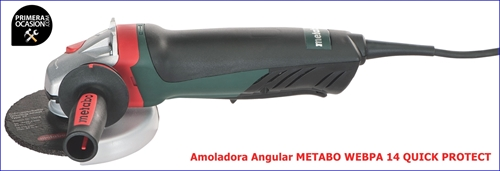 Imagen de Amoladora angular  METABO WEBPA 14 QUICK PROTECT 125 mm
