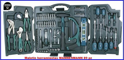 Imagen de Maletin herramientas MANNESMANN 89 piezas