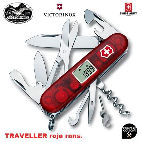 Imagen de Navaja Suiza VICTORINOX  TRAVELLER roja trans.