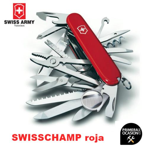 Imagen de Navaja Suiza VICTORINOX SWISSCHAMP roja