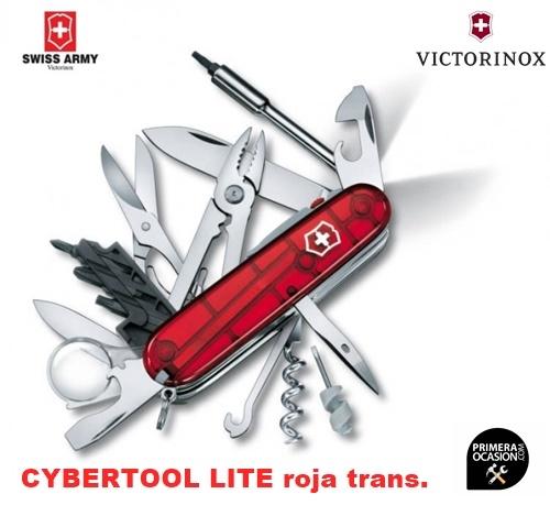 Imagen de Navaja Suiza VICTORINOX CYBERTOOL LITE roja trans.