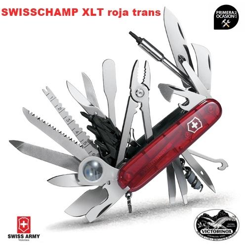 Imagen de Navaja Suiza VICTORINOX SWISSCHAMP XLT roja translucida