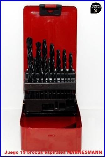 Imagen de Juego 19 brocas 1-10 mm acero HSS MANNESMANN