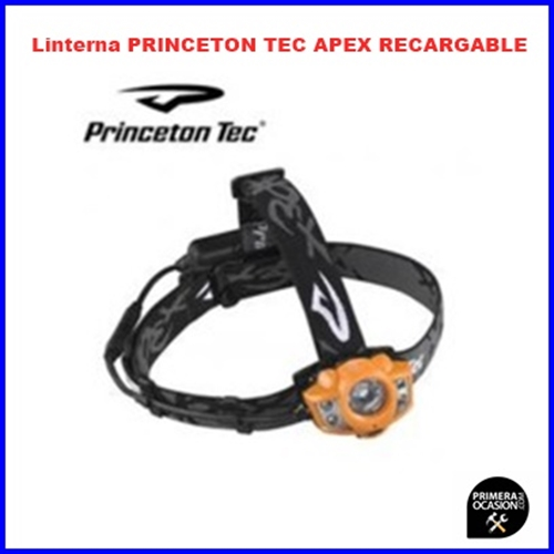 Imagen de Linterna frontal PRINCETON TEC APEX RECARGABLE naranja