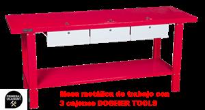 Imagen de Mesa metalica de trabajo con 3 cajones DOGHER TOOLS 027-001