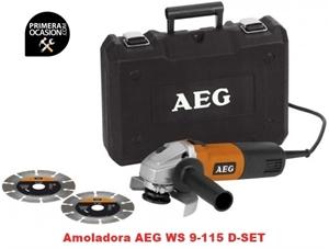 Imagen de Amoladora AEG WS 9-115 D SET