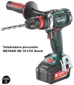 Imagen de Taladradora percusión bateria METABO SB 18 LTX QUICK 5,2 Ah