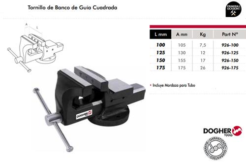 Imagen de Tornillo de banco guia cuadrada DOGHER TOOLS 175 mm