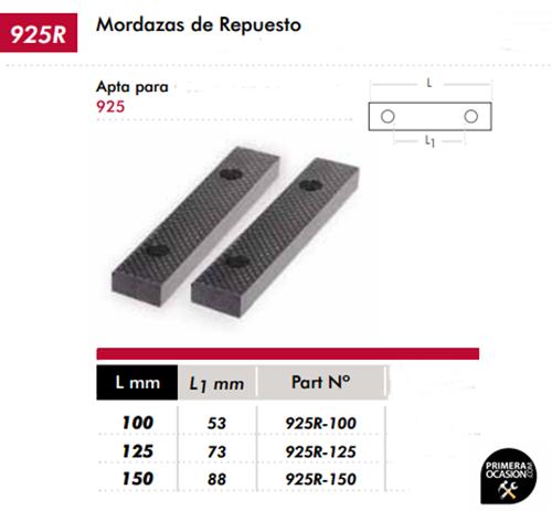 Imagen de Mordazas de repuesto 100 mm DOGHER TOOLS 925R-100