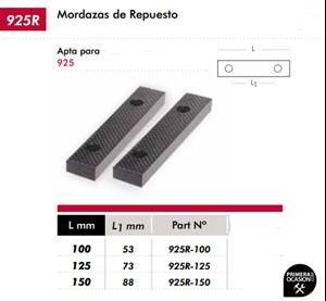 Imagen de Mordazas de repuesto 125 mm DOGHER TOOLS 925R-125