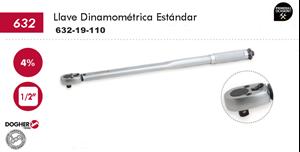 """Imagen de Llave dinamometrica estandar DOGHER TOOLS 1/2"""" 19-110 Nm"""