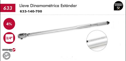 """Imagen de Llave dinamometrica estandar DOGHER TOOLS 3/4"""" 140-700 Nm"""