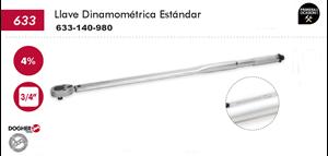 """Imagen de Llave dinamometrica estandar DOGHER TOOLS 3/4"""" 140-980 Nm"""
