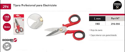 Imagen de Tijera profesional electricista 145 mm DOGHER TOOLS 296-006