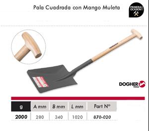 Imagen de Pala cuadrada con mango muleta DOGHER TOOLS 870-020