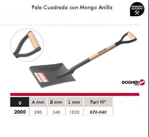 Imagen de Pala cuadrada con mango anilla DOGHER TOOLS 870-040