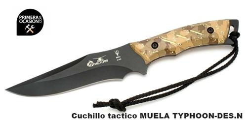 Imagen de Cuchillo tactico MUELA TYPHOON-DESERT.N