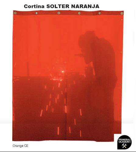 Imagen de Cortina soldadura naranja SOLTER  2000x1400