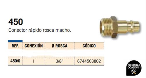 Imagen de Conector rapido rosca macho MICHELIN 450/6