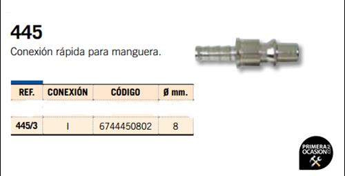 Imagen de Conexion rapida para manguera MICHELIN 445/3