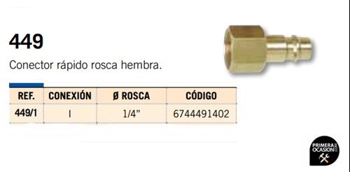 Imagen de Conector rapido rosca hembra MICHELIN 449/1