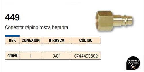 Imagen de Conector rapido rosca hembra MICHELIN 449/6