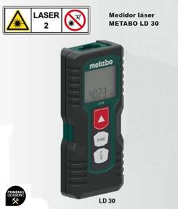 Imagen de Medidor laser de distancia METABO LD 30