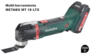 Imagen de Multi-herramienta de bateria METABO MT 18 LTX COMPACT