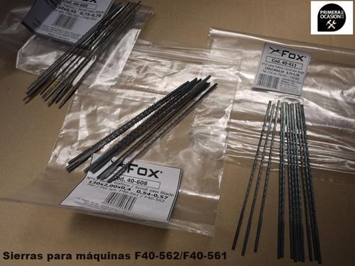 Imagen de Hojas sierra marqueteria FOX F40-605