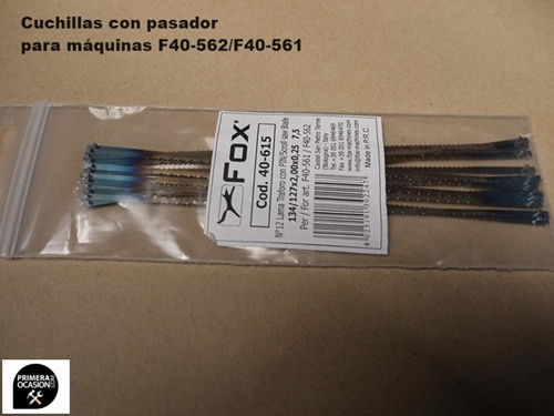 Imagen de Cuchillas con pasador sierra marqueteria FOX F40-615