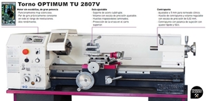 Imagen de Torno OPTIMUM TU 2807V