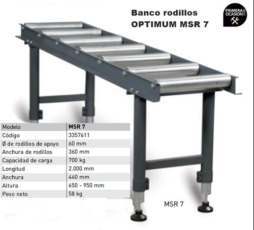 Imagen de Banco rodillos OPTIMUM MSR 7