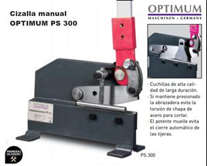 Imagen de Cizalla manual OPTIMUM PS 300
