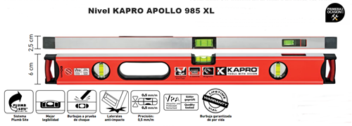 Imagen de Nivel KAPRO APOLLO 985 XL 60 cm