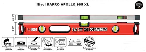 Imagen de Nivel KAPRO APOLLO 985 XLPM 80 cm