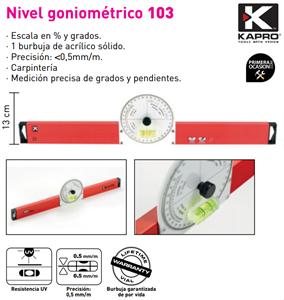 Imagen de Nivel KAPRO GONIOMETRICO 103