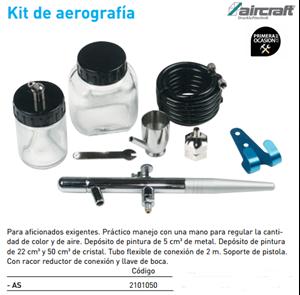 Imagen de Kit aerografia AIRCRAFT AS