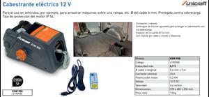 Imagen de Cabestrante electrico 12V UNICRAFT ESW 900