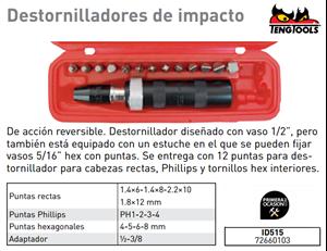 Imagen de Destornillador de impacto TENGTOOLS ID515
