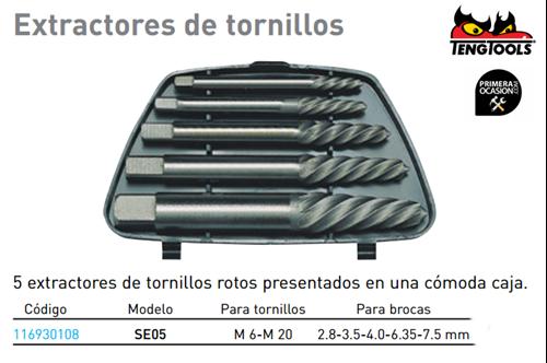 Imagen de Extractor tornillos rotos TENGTOOLS SE05