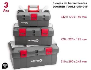 Imagen de 3 cajas de herramientas DOGHER TOOLS 050-015