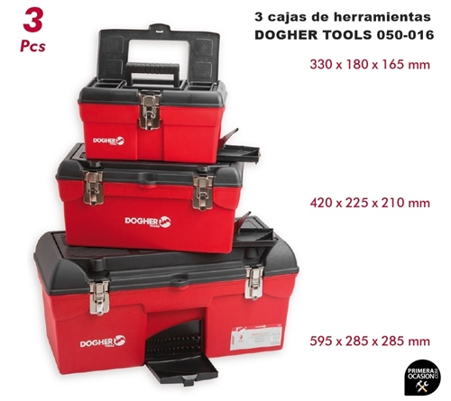 Imagen de 3 cajas de herramientas DOGHER TOOLS 050-016