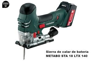 Imagen de Sierra de calar bateria METABO STA 18 LTX 140