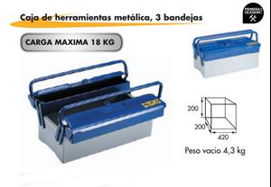 Imagen de Caja de herramientas metalica 3 bandejas ALYCO 192731